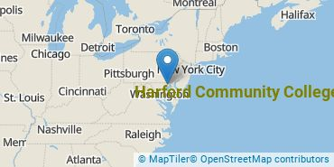 Location of Harford Community College