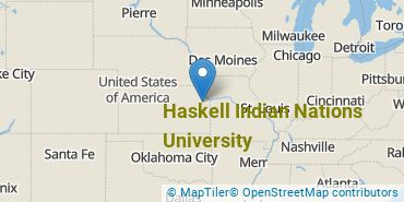 Location of Haskell Indian Nations University