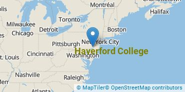 Location of Haverford College