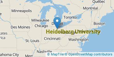 Location of Heidelberg University
