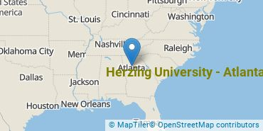 Location of Herzing University - Atlanta