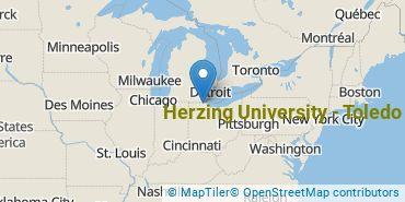 Location of Herzing University - Toledo