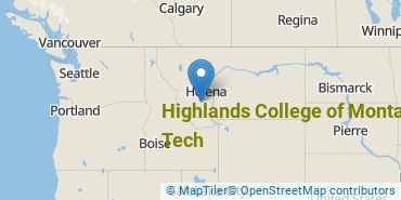 Location of Highlands College of Montana Tech