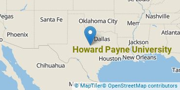 Location of Howard Payne University