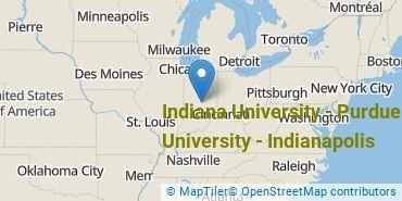 Location of Indiana University - Purdue University - Indianapolis