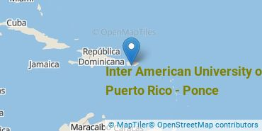 Location of Inter American University of Puerto Rico - Ponce
