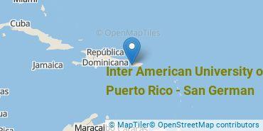 Location of Inter American University of Puerto Rico - San German