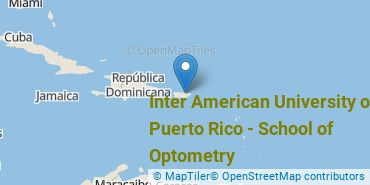 Location of Inter American University of Puerto Rico - School of Optometry