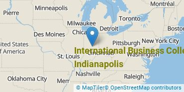 Location of International Business College - Indianapolis