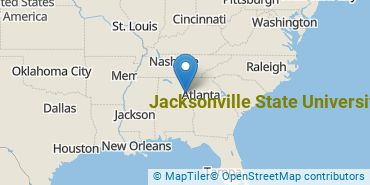 Location of Jacksonville State University
