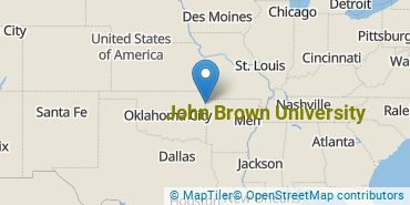 Location of John Brown University