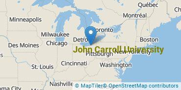 Location of John Carroll University