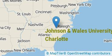 Location of Johnson & Wales University - Charlotte