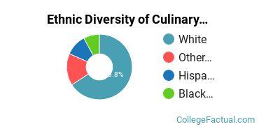 Ethnic Diversity of Culinary Arts Majors at Johnson & Wales University - Denver