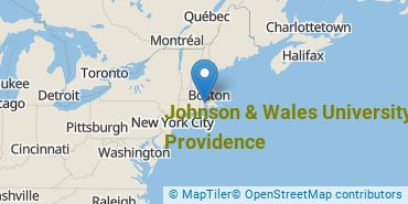 Location of Johnson & Wales University - Providence