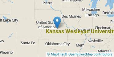 Location of Kansas Wesleyan University