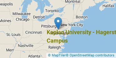 Location of Kaplan University - Hagerstown Campus