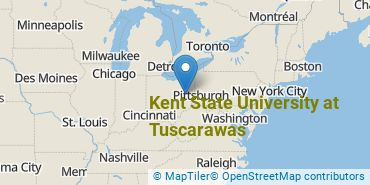 Location of Kent State University at Tuscarawas