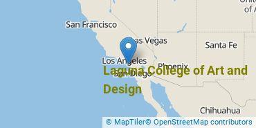 Location of Laguna College of Art and Design