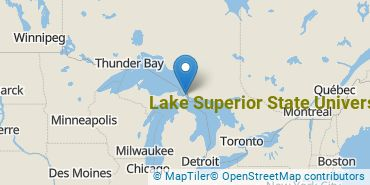 Location of Lake Superior State University