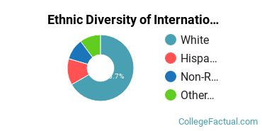 Ethnic Diversity of International Relations & National Security Majors at Lewis & Clark College
