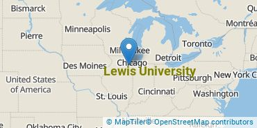 Location of Lewis University