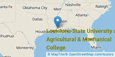 Location of Louisiana State University and Agricultural & Mechanical College