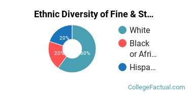 Ethnic Diversity of Fine & Studio Arts Majors at Loyola University Maryland
