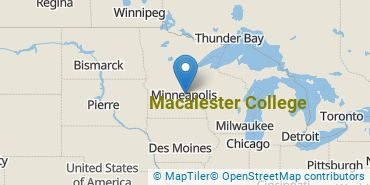 Location of Macalester College