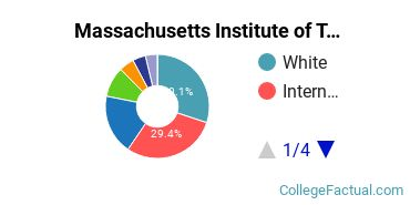 MIT Undergraduate Racial-Ethnic Diversity Pie Chart