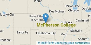 Location of McPherson College