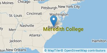 Location of Meredith College
