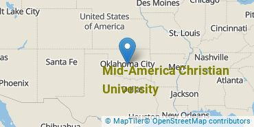 Location of Mid - America Christian University