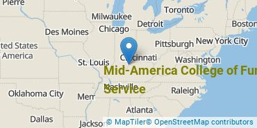 Location of Mid-America College of Funeral Service