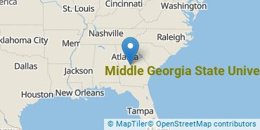 Location of Middle Georgia State University