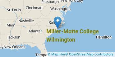 Location of Miller - Motte College - Wilmington