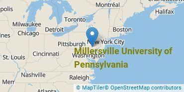 Location of Millersville University of Pennsylvania