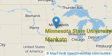 Location of Minnesota State University - Mankato