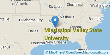 Location of Mississippi Valley State University