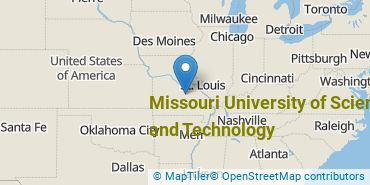 Location of Missouri University of Science and Technology