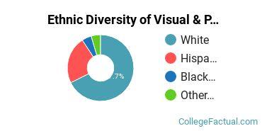 Ethnic Diversity of Visual & Performing Arts Majors at Monmouth University