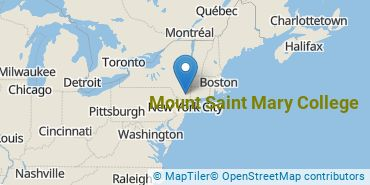 Location of Mount Saint Mary College