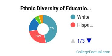 Ethnic Diversity of Education Majors at National University