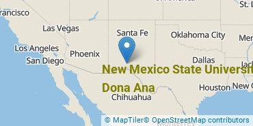 Location of New Mexico State University - Dona Ana