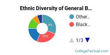 Ethnic Diversity of General Business/Commerce Majors at New York University