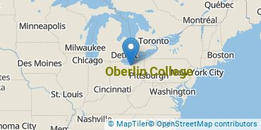 Location of Oberlin College