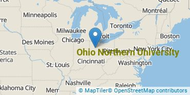 Location of Ohio Northern University