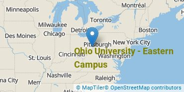 Location of Ohio University - Eastern Campus