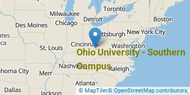 Location of Ohio University - Southern Campus