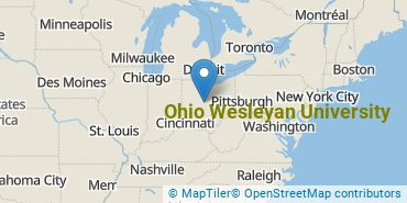 Location of Ohio Wesleyan University